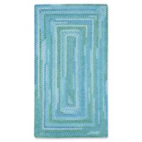 Capel Waterway Concentric Braided 3' x 5' Accent Rug in Blue
