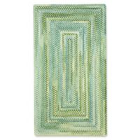 Capel Waterway Concentric Braided 3' x 5' Accent Rug in Yellow