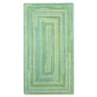 Capel Waterway Concentric Braided 4' x 6' Accent Rug in Green