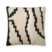 Magnolia Home by Joanna Gaines Elise SquareThrow Pillow in Natural/Black