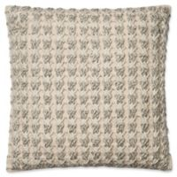 Magnolia Home Jamie Square Throw Pillow in Ivory/Grey