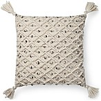 Magnolia Home Jana Square Throw Pillow in Ivory/Black