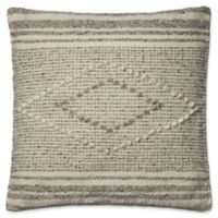 Magnolia Home by Joanna Gaines Sebastian Square Throw Pillow in Grey/Ivory