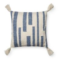 Magnolia Home by Joanna Gaines Kaylee Square Throw Pillow in Navy/Ivory