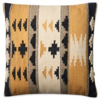 Magnolia Home by Joanna Gaines Walton Square Throw Pillow in Gold/Black