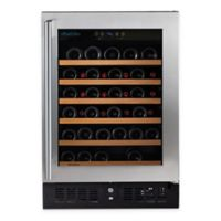 Wine Enthusiast® Pro Single Zone Stainless Steel Wine Cellar with Right Side Door