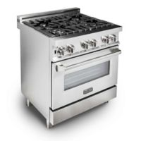 ZLINE Range 30-Inch Stainless Steel Oven with 4 Gas Burners