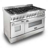 ZLINE 48-Inch Dual Oven Range in Stainless Steel