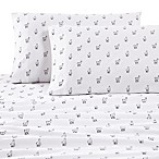 200-Thread-Count Cotton Llama Queen Sheet Set in White