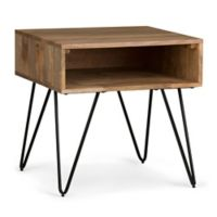 Simpli Home Hunter End Table in Natural