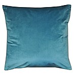 Solid Velvet Square Throw Pillow in Teal