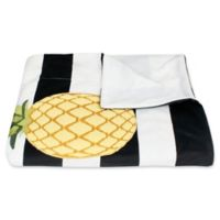 Pana Pineapple Stripe Micromink Throw Blanket