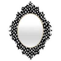 Deny Designs® Elisabeth Fredriksson 29-Inch x 22-Inch Oval Little Heart Mirror in Black/White