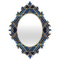 DENY Designs Elisabeth Fredriksson Geo Small Baroque Mirror in Blue