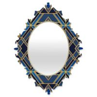DENY Designs Elisabeth Fredriksson Geo Medium Baroque Mirror in Blue