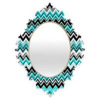 DENY Designs Madart Chevron Multicolor Small Baroque Mirror