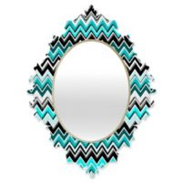 DENY Designs Madart Chevron Multicolor Medium Baroque Mirror