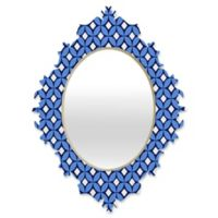 DENY Designs Caroline Okun Blueberry Medium Baroque Mirror