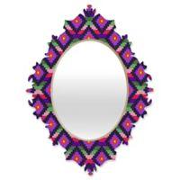 DENY Designs Bianca Aztec Diamonds Fiesta Small Baroque Mirror
