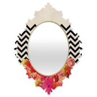DENY Designs Bianca Green Chevron Flora 2 Small Baroque Mirror