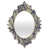 DENY Designs Gabi Blue Dahlia Small Baroque Mirror