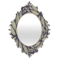 DENY Designs Gabi Blue Dahlia Medium Baroque Mirror