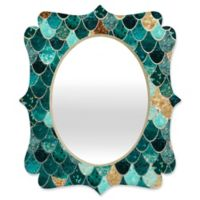 Deny Designs® Monika Strigel 29-Inch x 22-Inch Oval Really Mermaid Quatrefoil Mirror in Aqua