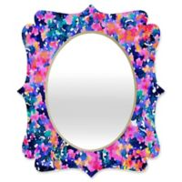 Deny Designs® Jacqueline Maldonado 29-Inch x 22-Inch Multicolor Oval Boheme Quatrefoil Mirror