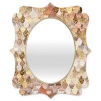 Deny Designs® Monika Strigel 29-Inch x 22-Inch Oval Really Mermaid Quatrefoil Mirror in Gold