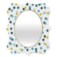 Deny Designs® Hello Twiggs 19-Inch x 14-Inch Multicolor Oval Quatrefoil Mirror