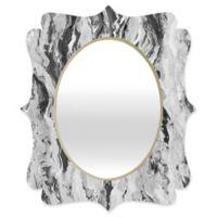 Deny Designs® Lisa Argyropoulos 19-Inch x 14-Inch Oval Mono Melt Mirror in Black/White