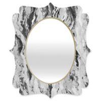 Deny Designs® Lisa Argyropoulos 29-Inch x 22-Inch Oval Mono Melt Mirror in Black/White