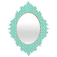 DENY Designs Allyson Johnson Minty Blue Polka Dots Baroque Mirror