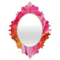 DENY Designs Happee Monkee Hot Pink Peony Small Baroque Mirror