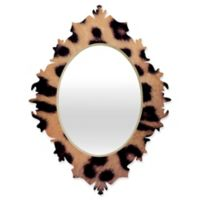 DENY Designs Ballack Art House Leopard 1986 Small Baroque Mirror