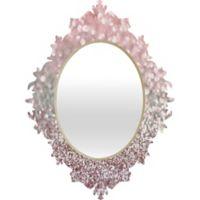 DENY Designs Lisa Argryopoulos Small Girly Pink Snowfall Baroque Mirror