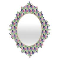 DENY Designs Lara Kulpa Retro Cubic Summer Medium Baroque Mirror