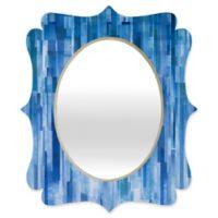Deny Designs® Jacqueline Maldonado 29-Inch x 22-Inch Oval Quatrefoil Mirror in Rain