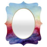 Deny Designs® Jacqueline Maldonado 29-Inch x 22-Inch Multicolor Oval Arpeggi Quatrefoil Mirror