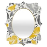 Deny Designs® Khristian A. Howell 19-Inch x 14-Inch Oval Bryant Park 3 Mirror in Grey/Yellow