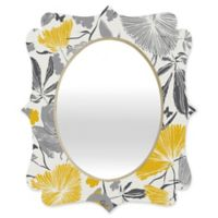 Deny Designs® Khristian A. Howell 29-Inch x 22-Inch Oval Bryant Park 3 Mirror in Grey/Yellow