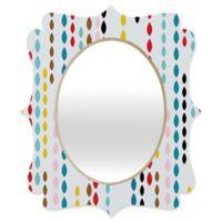 Deny Designs® Khristian A. Howell 19-Inch x 14-Inch Oval Nolita Drops Quatrefoil Mirror