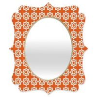 Deny Designs® Khristian A. Howell 19-Inch x 14-Inch Oval Moroccan Mirage Mirror in Burnt Orange