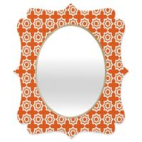 Deny Designs® Khristian A. Howell 29-Inch x 22-Inch Oval Moroccan Mirage Mirror in Burnt Orange