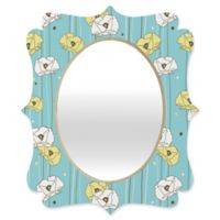 Deny Designs® Heather Dutton 19-Inch x 14-Inch Oval Poppy Field Quatrefoil Mirror in Teal