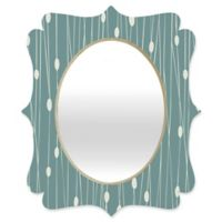 Deny Designs® Heather Dutton 19-Inch x 14-Inch Oval Entangled Quatrefoil Mirror in Teal