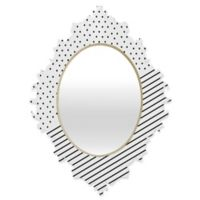 Deny Designs® Allyson Johnson 29-Inch x 22-Inch Oval Opposites Attract Mirror in Black/White