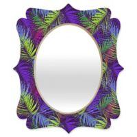 Deny Designs® Aimee St. Hill 29-Inch x 22-Inch Multicolor Oval Palm Quatrefoil Mirror