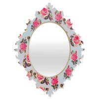 Deny Designs® Allyson Johnson 29-Inch x 22-Inch Multicolor Oval Pink Roses Baroque Mirror