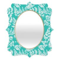 Deny Designs® Aimee St. Hill 29-Inch x 22-Inch Oval Spring 2 Quatrefoil Mirror in Teal